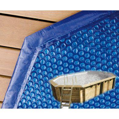 bache ete a bulles pour piscine bois ubbink 470 x 820 cm octogonale allongee dimension 420x770cm