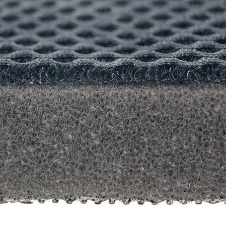 chaise longue avec oreiller multi position elastique en aluminium et multifibre