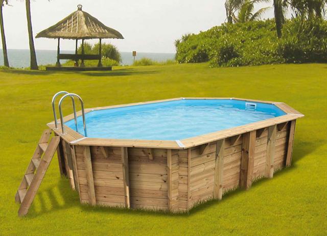 piscine bois azura 355 x 550 cm h 120