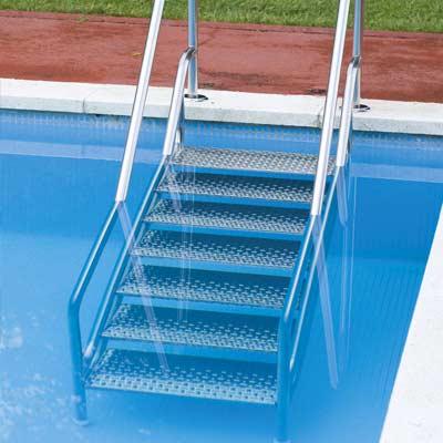 echelle escalier inox easy access avec double main courante