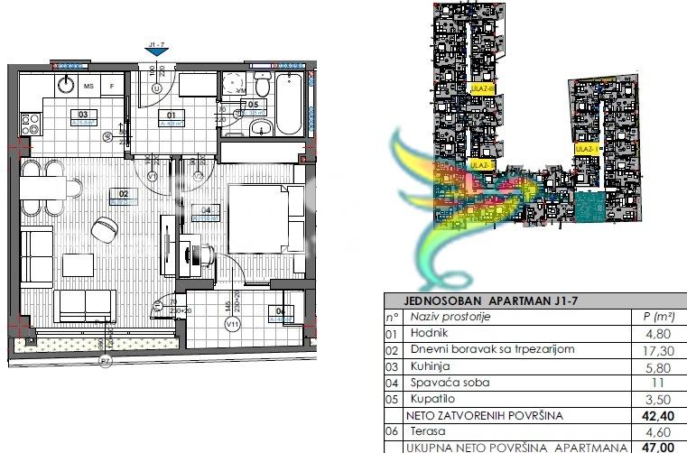 Tivat residence jednosoban 47