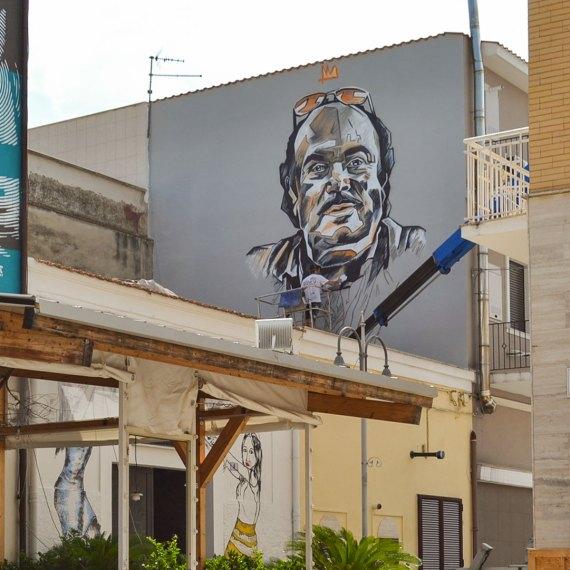 Lino Banfi by Piskv - Street art a Stornarella 2019