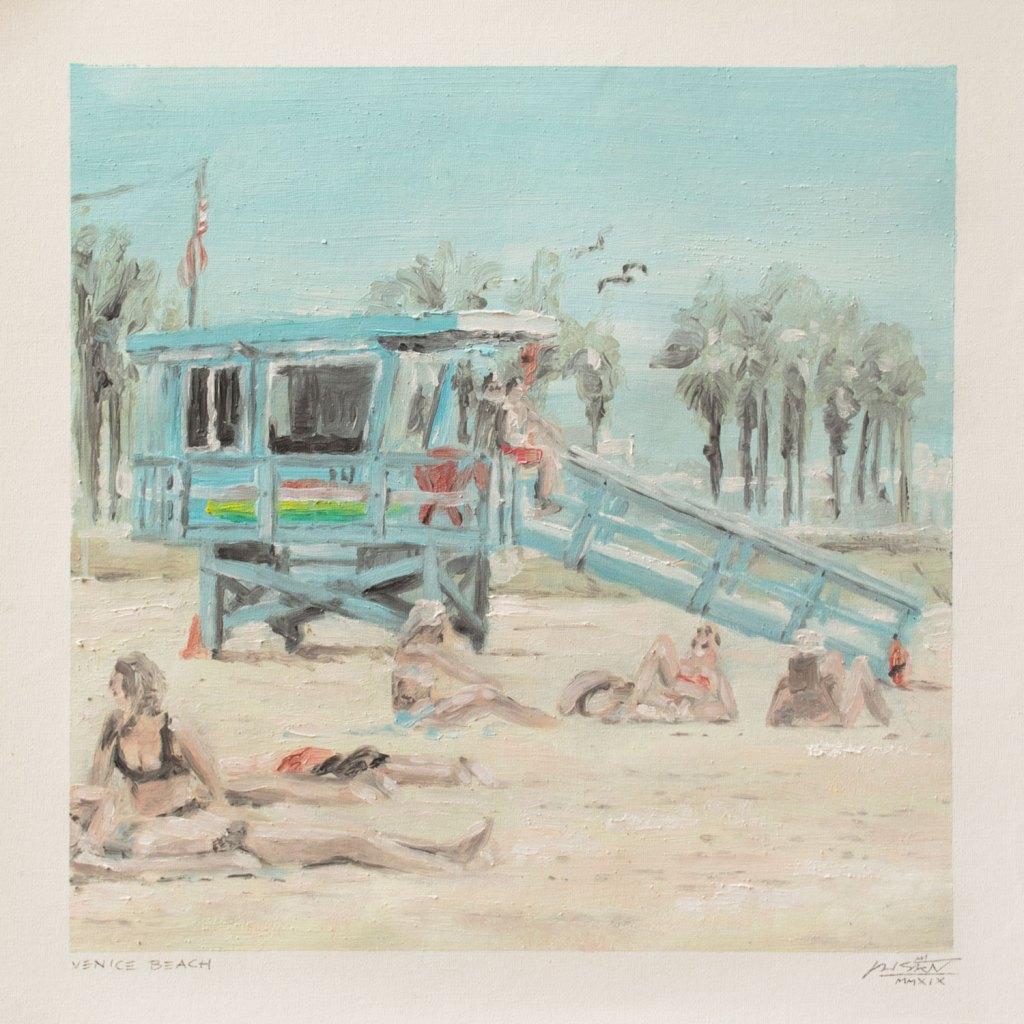 """Venice Beach"" by Piskv_Oil on Canvas_24x24cm_2019"