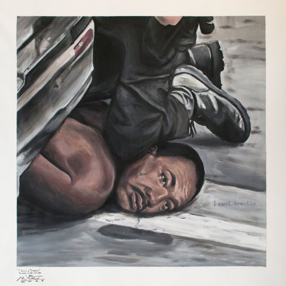 """""""I have a Dream - Black Lives Matter"""" by Piskv_Acrylic on Canvas_85x85cm_2020"""
