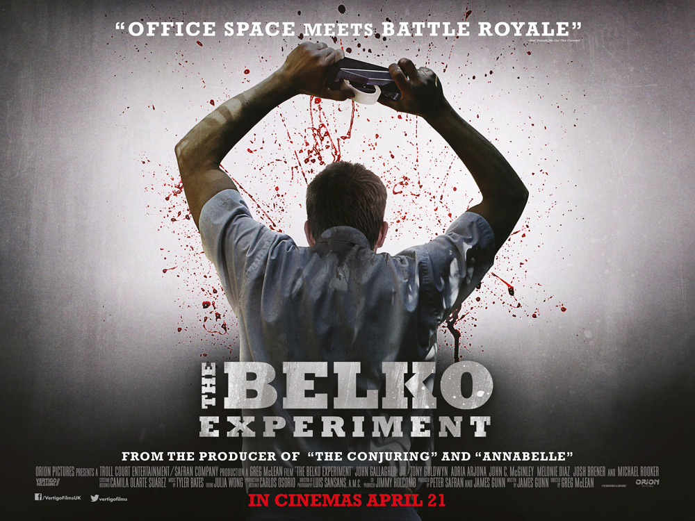Official UK Poster for the Belko Experiment