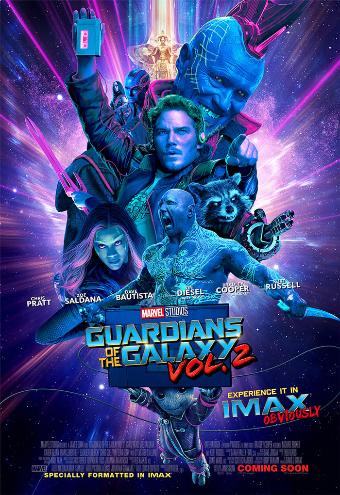 IMAX Exclusive Guardians of the Galaxy Vol. 2 Poster Revealed