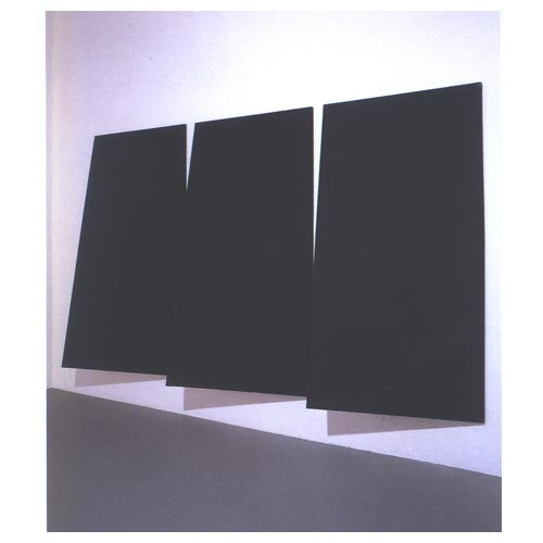 'Twisted Canvases,' 1965-66, tempera on canvas, 3 elements, cm 230 x 120 each