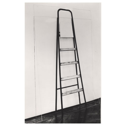 'Double Ladder Leaning Against the Wall,' 1964, photograph on transparent plexiglass (2), cm 180 x 120 and 150 x 120