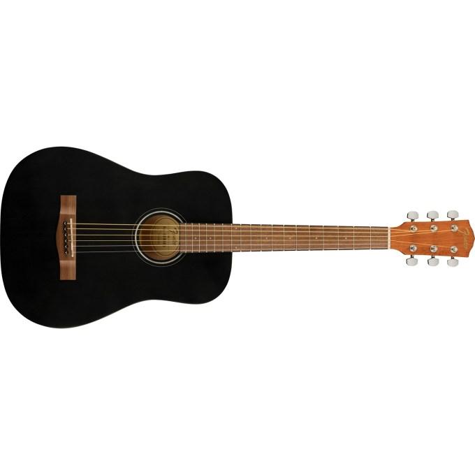 Fender Fa 15 3 4 Scale Steel String Acoustic Guitar With Gig Bag Walnut Fingerboard Black