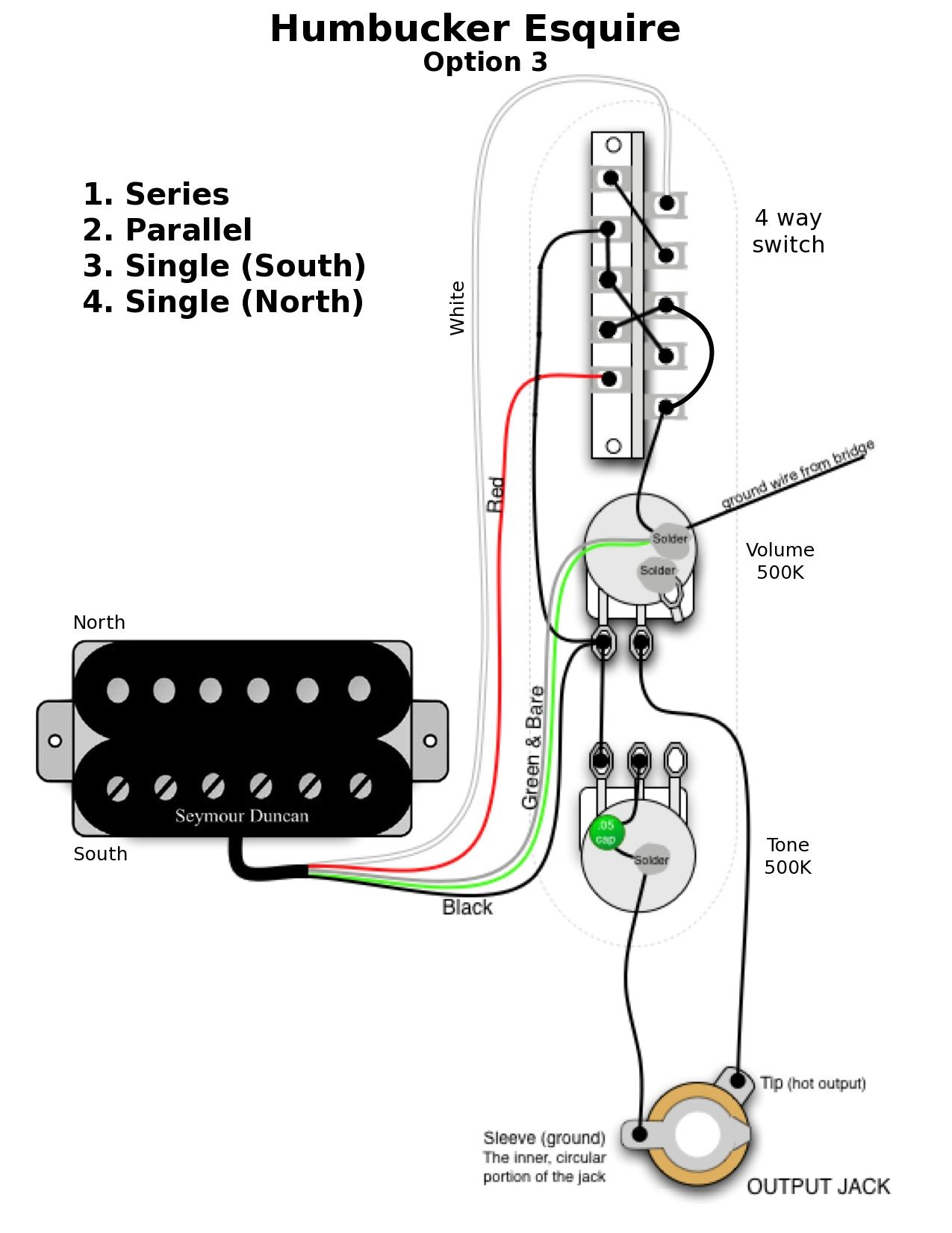 Esquire Wiring Options