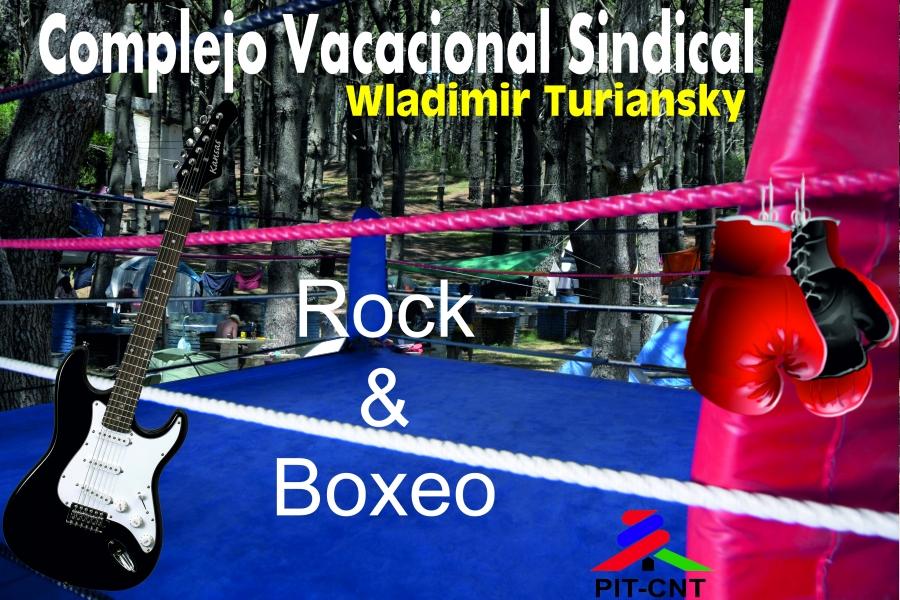Sábado a todo boxeo y rock en Complejo vacacional Wladimir Turiansky del PIT-CNT en Rocha