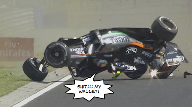 Force India Hungary crash disaster!