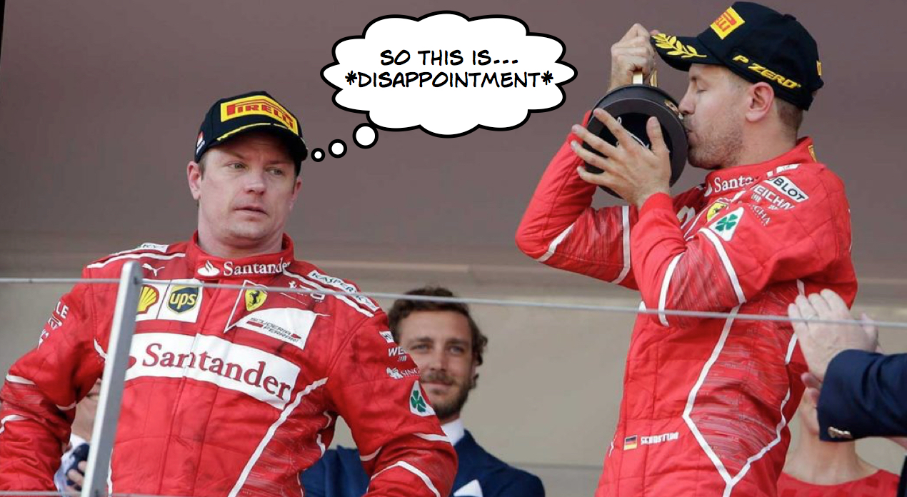 Raikkonen locates 2nd facial expression