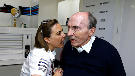 Claire Williams unaware dad owns team