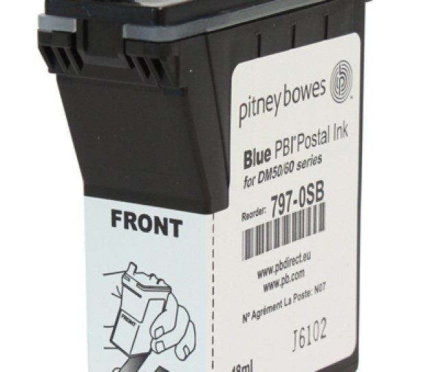 Item 797 0sb Pitney Bowes Franking Ink Cartridge Blue Dm50 K700 Series Dm60 Series