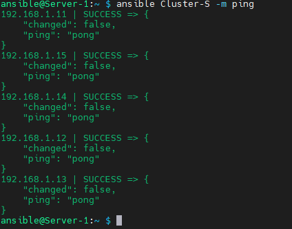 ping cluster nodes