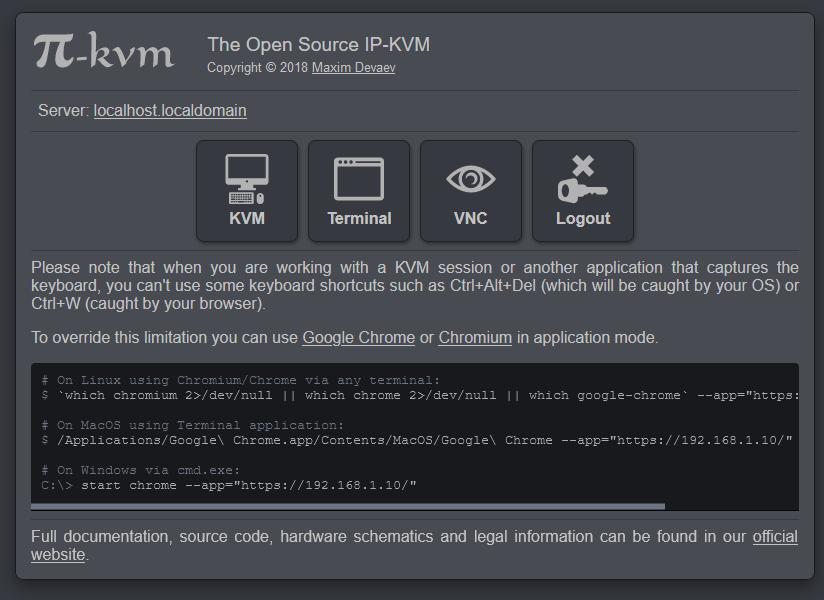 Pi KVM UI