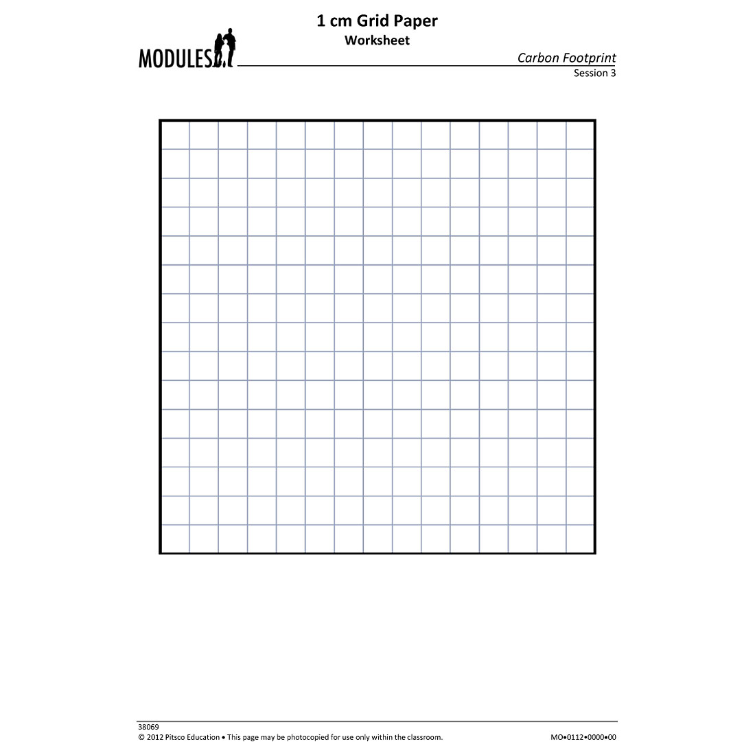 Grid Paper Worksheet W