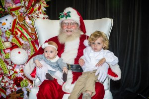 two kids on santas lap