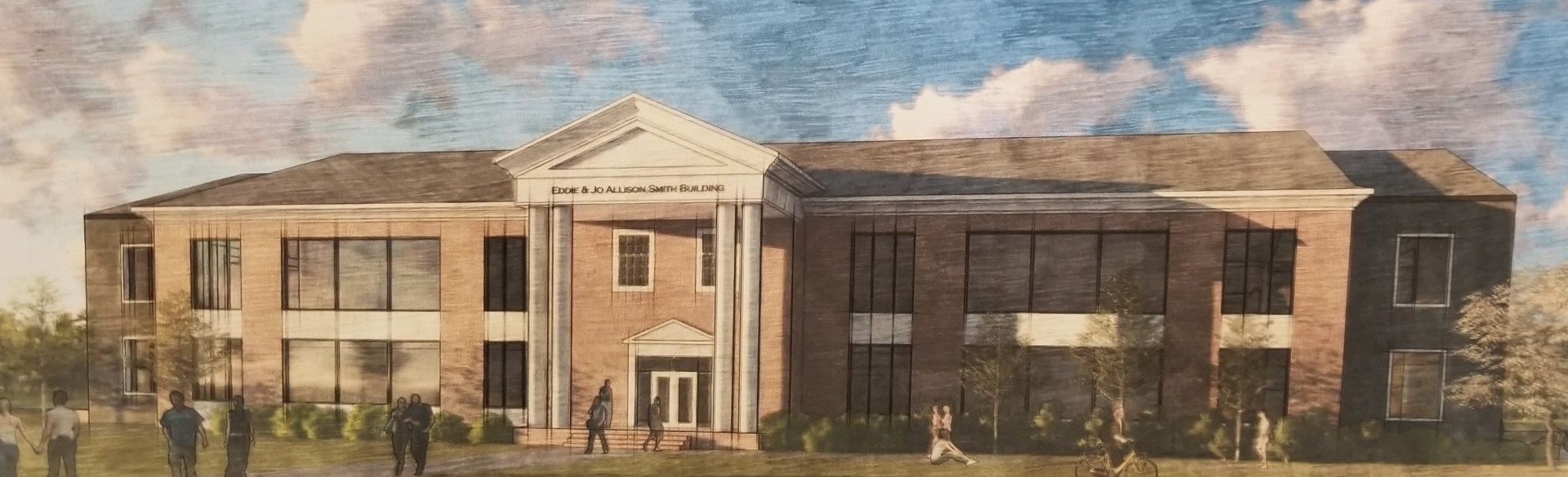 Artist's rendering of the future Eddie and Jo Allison Smith Center for Student Advancement.
