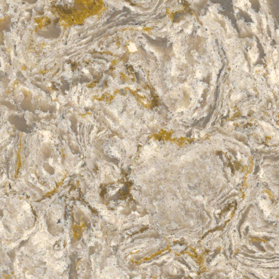 Fossil Taupe Quartz Kitchen