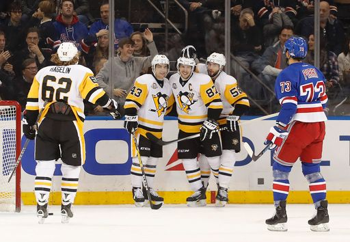 Penguins blow out Rangers 6-1 Wednesday