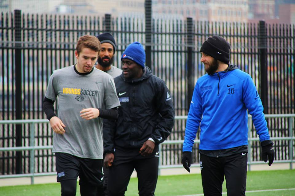 Riverhounds defeat Pitt men's soccer team, 3-1