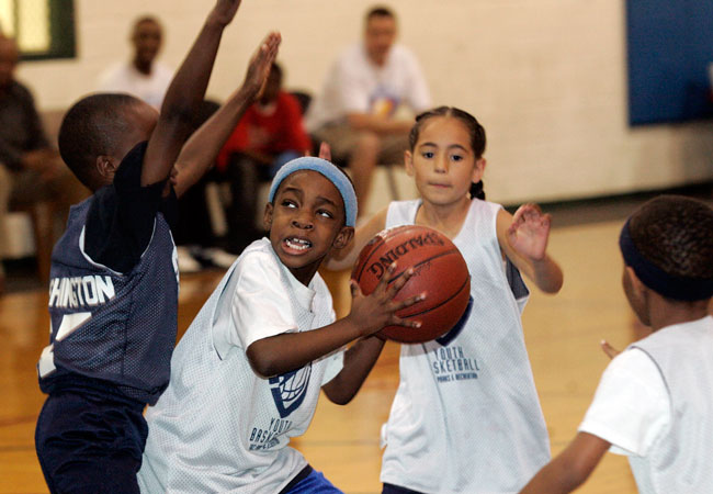Basketball is the most commonly played sport for both boys and girls throughout childhood.