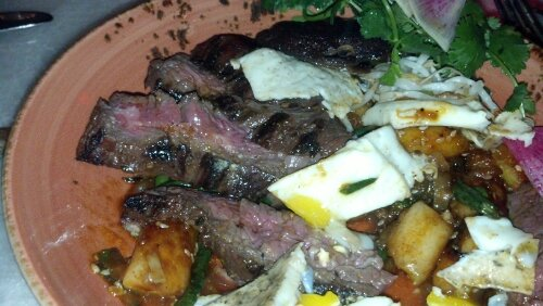 Inside the Skirt Steak Dish