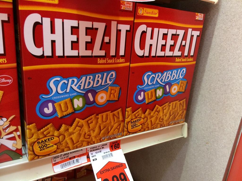Cheez-Its Scrabble Junior