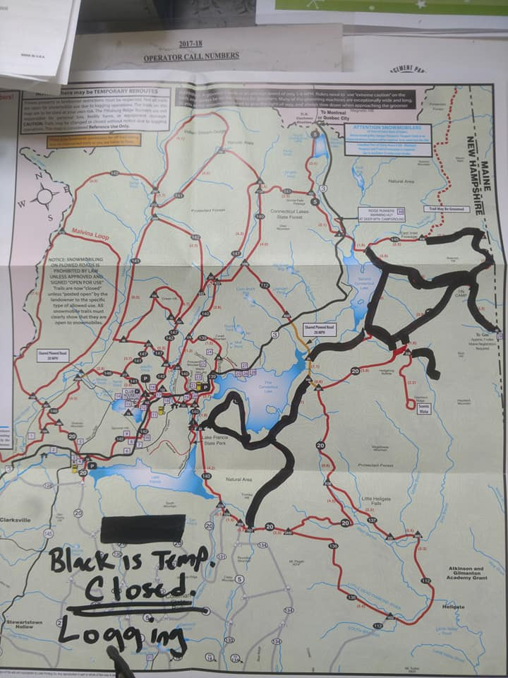 temporary trail map for opening weekend