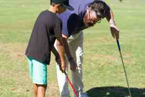 Nick Griffin Coaching a Junior Studnet