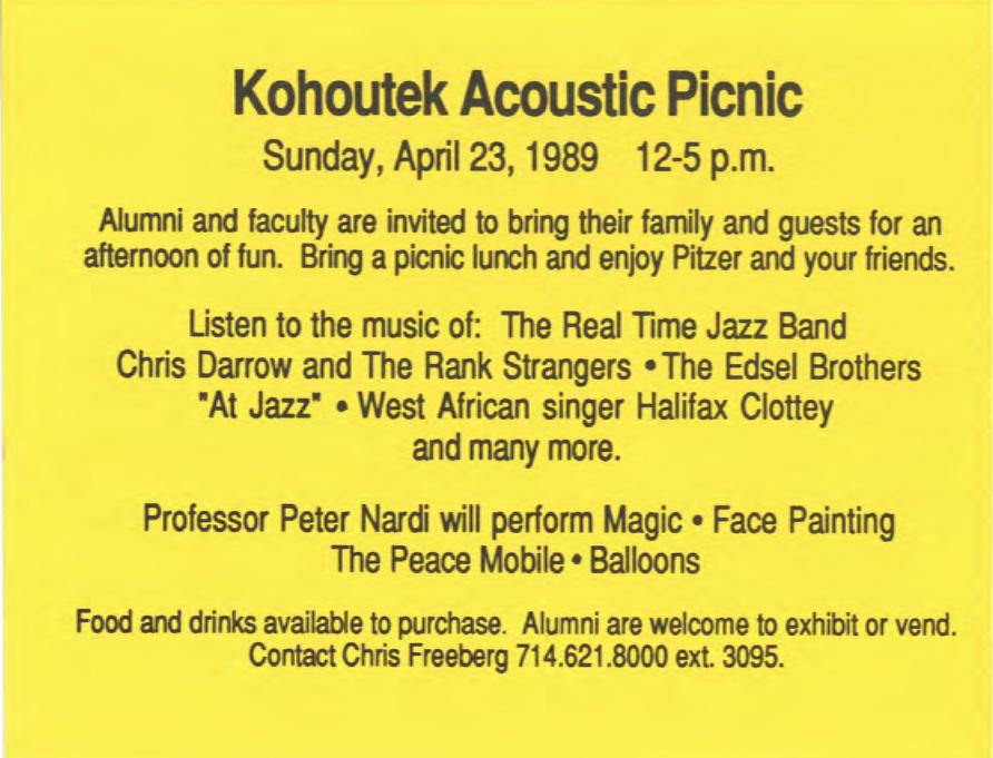 1989 - Invitation to a Kohoutek picnic