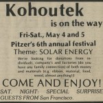 Kohoutek 1979 ad for Solar Energy theme