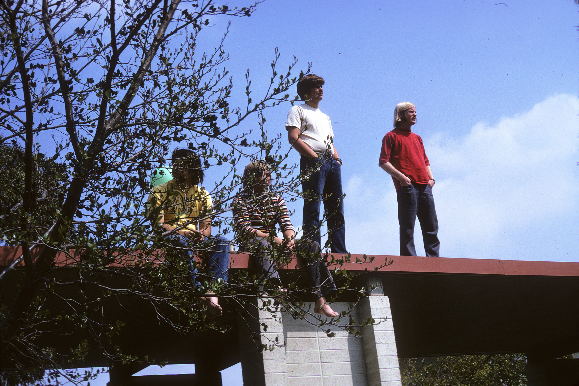 1975 - Watching the Kohoutek festivities from the covered walkway that stretched from McConnell Center to old Sanborn Hall.