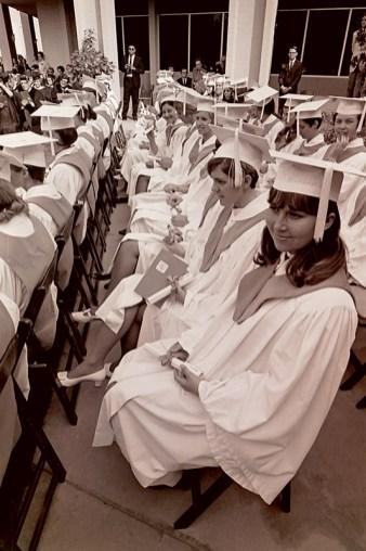 Seated Graduates with Diplomas, 1968