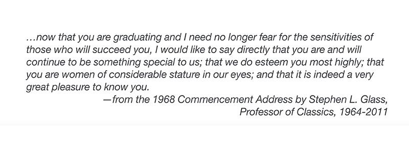Classics Professor Stephen Glass Quote, 1968