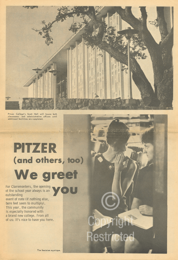 Claremont Courier article, September 9, 1964