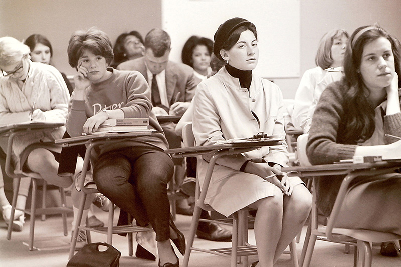 Students and Faculty at Town Meeting, 1965