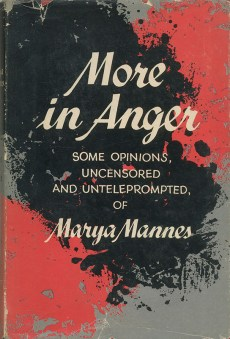 Cover of More in Anger, 1958