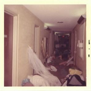 Student Reclines Amongst Detritus in Sanborn Hall Corridor, 1965