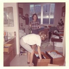Three Students in Sanborn Hall Dorm Room, 1965