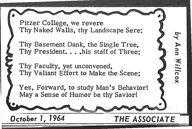 Poem in The Associate, October 1, 1964
