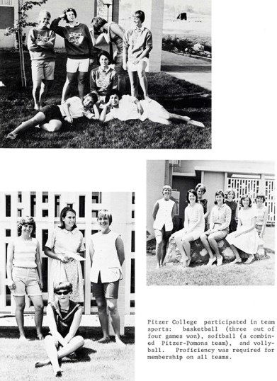Page from Pitzer College Yearbook, 1964-1965
