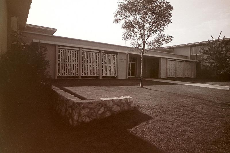 Front Entrance of Sanborn Hall, 1968