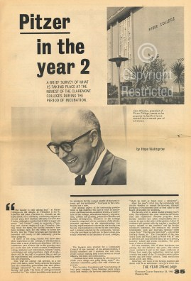 Claremont Courier article, September 22, 1965