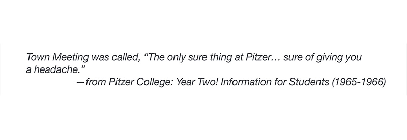 Quote from Pitzer College Yearbook, 1965-1966