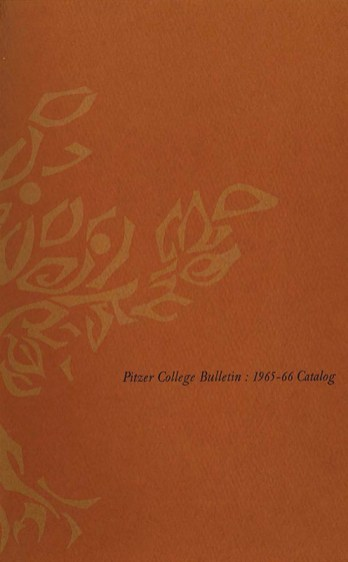 Cover of Pitzer College Bulletin, Vol. 3, No. 1, 1965-1966