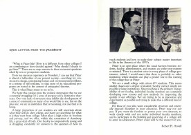 Pages from Pitzer College Bulletin, 1971-72
