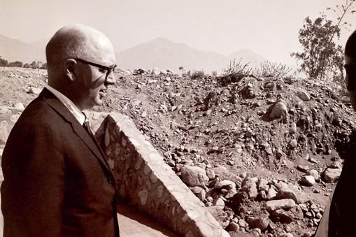 John Atherton at Construction Site, 1964